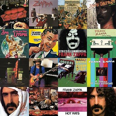 Frank Zappa Discography 12x12 Borderless Album Cover Collage Print Poster