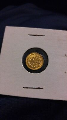 1945 Gold Dos Pesos - Gold Coin From Mexico - Great Condition!