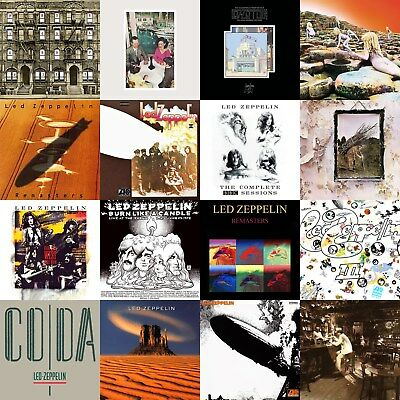 Led Zeppelin Discography 12x12 Borderless Album Cover Collage Print Poster