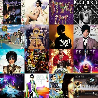 Prince Discography 12x12 Borderless Album Cover Collage Print Poster