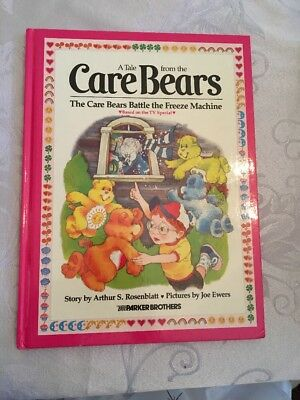 Care Bears Battle The Freeze Machine Hardcover Book Parker Brothers Vintage 1984