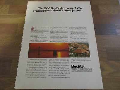 Bechtel - 1936 Bay Bridge - San Francisco  1971 Print Ad