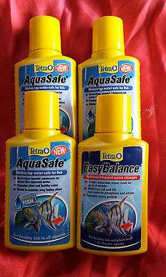 job lot of 3 TETRA AQUASAFE 100ml and  1 x EASY BALANCE 100ml