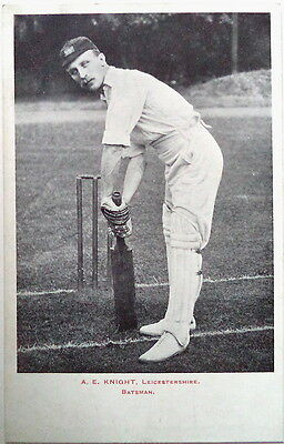 Albert Knight England To Aust 1903-04 Cricket Postcard
