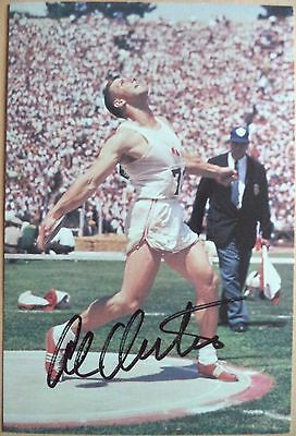 Al Oerter – 1956, 60, 64 & 68 Olympic Games Discus Gold Medals Signed Photograph