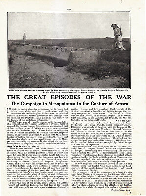 World War 1, Campaign in Mesopotamia to Capture of Amara, 10 Pages