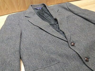 Pendleton Wool Tweed Blazer With Leather Elbow Patches Vintage