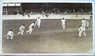 "ENGLAND v INDIA 1936 2nd TEST MATCH RARE SEPIA 10"" x 7"" CRICKET PRESS PHOTOGRAPH"