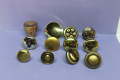 Lot of 12 Assorted SOLID Brass Cabinet Drawer Knobs Handles Pulls