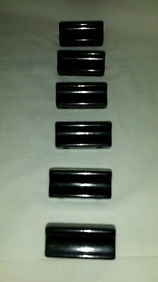 Vintage Set of 6 Black Bakelite Drawer Pulls