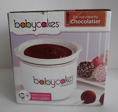 NEW The Original Babycakes Chocolatier 2 1/2 Cup Capacity Pot with Accessories