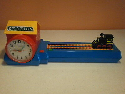 Train Alarm Clock-1993 Made by Design in Mind-Train moves on track manually