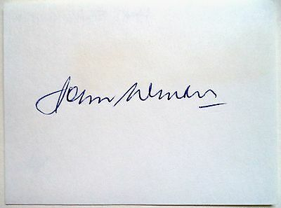 John Winter 1948 Olympic High Jump Gold Medal Winner - Original Ink Autograph