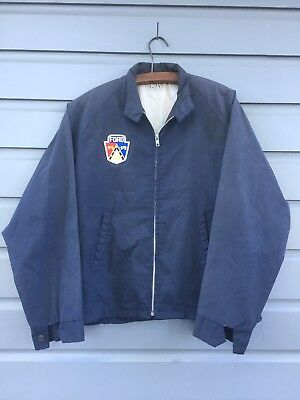 Vintage 1950's Ford Advertising Driving Jacket Size Large Hot Rod Rat Rod