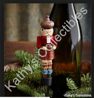 Mackenzie Childs MacKenzie-Childs Nutcracker Bottle Stopper  NEW  Retired