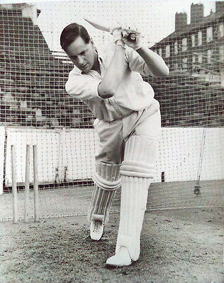 Peter May At Batting Practice, The Oval 1958 Photograph