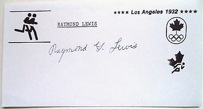 RAYMOND LEWIS 1936 OLYMPIC 4x400m RELAY BRONZE MEDAL ORIGINAL INK AUTOGRAPH