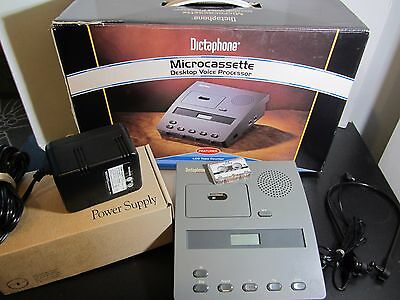 Dictaphone 3740 Transcriber Microcassette ExpressWriter  Headset  NO FOOT PEDAL