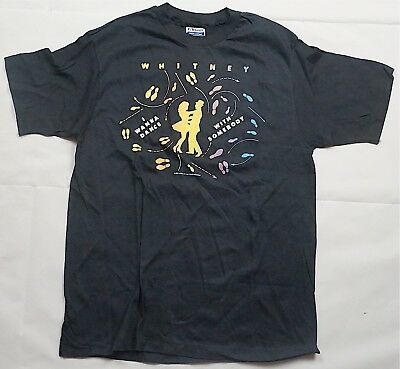 Rare Vintage WHITNEY HOUSTON The Moment Of Truth World Tour 1987-88 Shirt 80s L