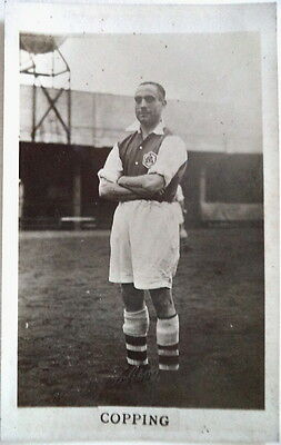 Wilf Copping Arsenal 1935-36Photographic Footy Postcard