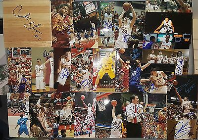 Lot of 25 Iowa State Cyclones Autographed Signed Photos & Floor Tile NIANG-EJIM