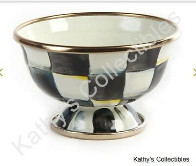 Authentic Mackenzie Childs    Courtly Check Enamel Little Sugar Bowl  NEW