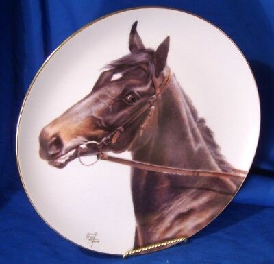 """fred stone 10"""" plate  """"Ruffian"""" horse plate outstanding detail on horse"""