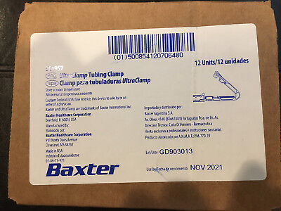 Baxter UltraClamp Tubing Clamp 5C4957 12 Units Ultra Clamp Dialysis