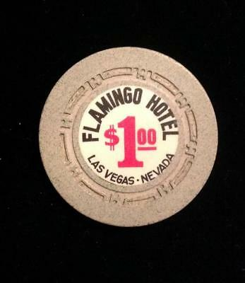 VTG Las Vegas Nevada Flamingo Hotel $1.00 Casino Chip Gambling Black Jack