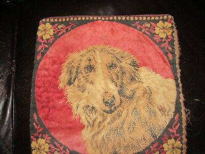 Antique Tapestry Pillow Cushion Cover Featuring Adorable Puppie