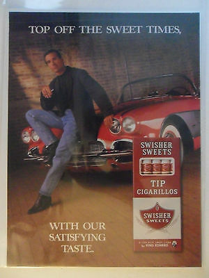 1997 Print Ad Swisher Sweets Little Cigars ~ Top Off the Sweet Times Red Car
