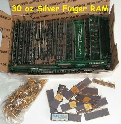 Over 2.25 Pounds Computer RAM - PINS - IC CHIPS  - for Gold & Silver Recovery