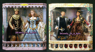 Camelot Barbie Doll King Arthur Guinevere Romeo and Juliet Together Gift Set Ken