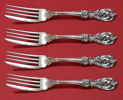 """Francis I by Reed and Barton Old Sterling Silver Fish Fork Set 4pc AS Custom 7"""""""