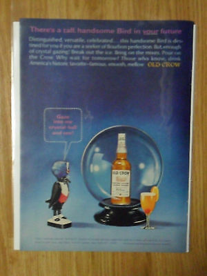 1965 Print Ad Old Crow Whiskey ~ Fortune Teller What's in your Future