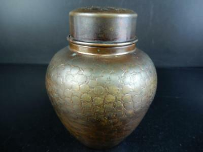 H5821: Japanese Copper TEA CADDY Chaire Container, Kaishindo made