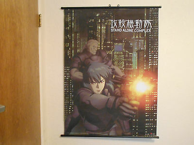 Ghost in the shell wall scroll 43 and 1/2 inches by 31 inches