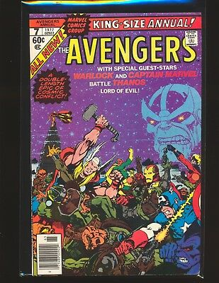 Avengers Annual # 7 - Thanos appearance & Death of Warlock Fine/VF Cond.