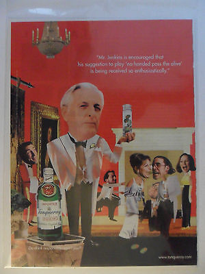 1997 Print Ad Tanqueray Gin Distilled English ~ Mr. Jenkins at the MUSEUM