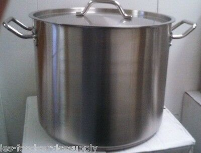 24 QT. STOCK POT with LID - 18/8 STAINLESS INDUCTION READY COMMERCIAL COOKWARE