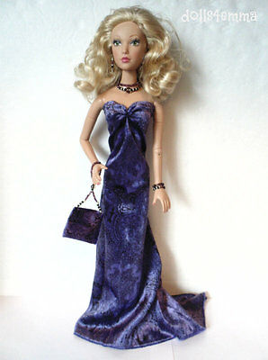 """HANDMADE DOLL CLOTHES for Madame Alexander 16"""" ALEX Gown Purse & Jewelry NO DOLL"""