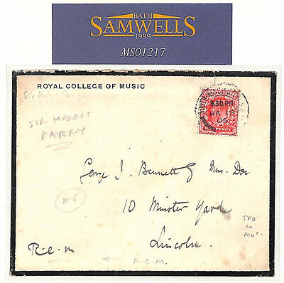 MS1217 1905 GB *Royal College of Music* Cover Written SIR HUBERT PARRY Composer