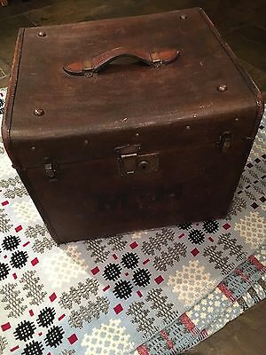 Victorian Chest / Travelling Trunk Leather Handle Coffee Table NOW REDUCED