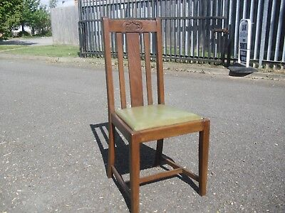 Lovely Oak 1920's Arts & Crafts High Back Chair