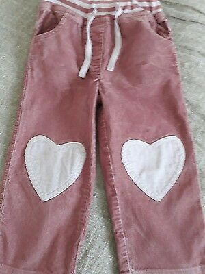boden heart cord trousers 2-3 years