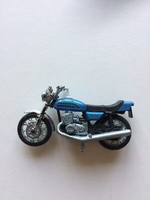 Vintage Kawasaki 750 Motorcycle with Kickstand