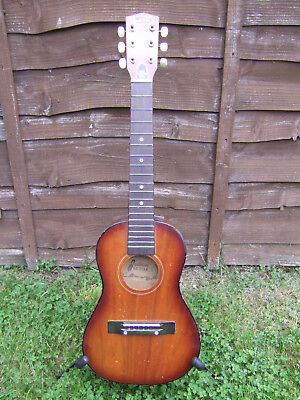 vintage audition acoustic guitar
