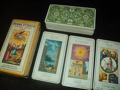 Vintage 1977 Grand Etteilla Tarot Of The Gypsies Cards Deck By Grimaud Complete