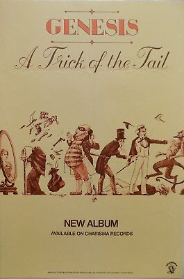 """Genesis (Prog Rock) """"Trick Of The Tail"""" 1976 UK Promo Only Poster REDUCED PRICE!"""