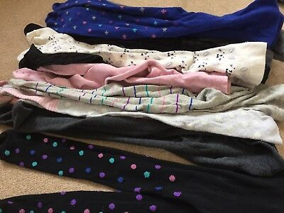 11 pairs of girls winter tights age 4-5 years